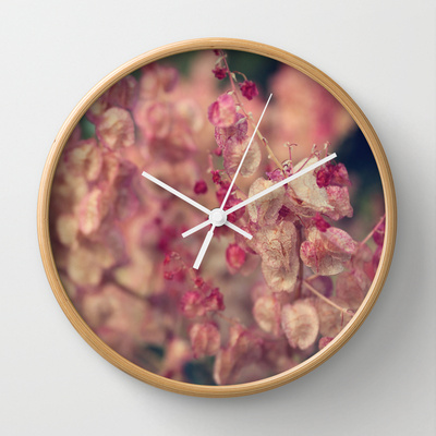Clock - rumex flower natural