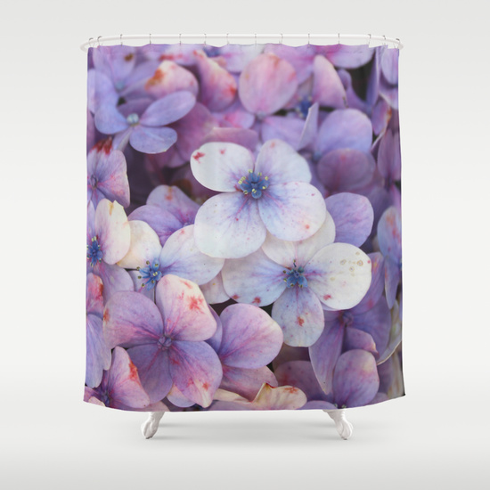 Shower curtain - hortensia