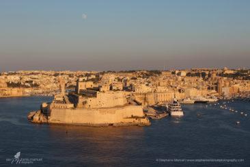 Harbour at sunset, Valetta, Malta