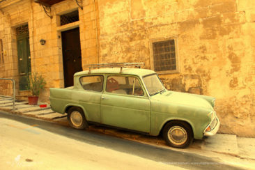 Vintage car in the streets of Valetta, Malta