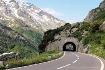 Stunning sceneries and mountain road, Switzerland